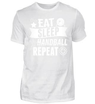 Handball Handballer Shirt Eat Sleep