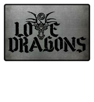 Love Dragons - black grunge