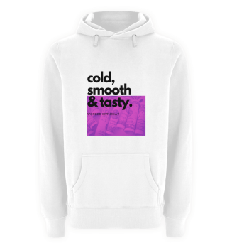 Hoodie Cold Smooth and Tasty Purple