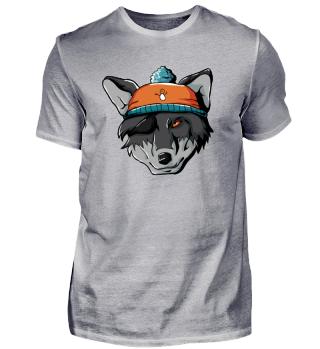 Winter Wolf Wildhund Wolfsrudel Berge