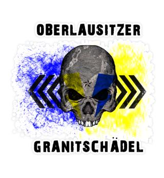 Oberlausitzer Granitschädel Aufkleber