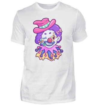Clown Face Costume Carnival Halloween