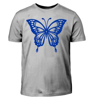 Schmetterling zum Ausmalen I - blau