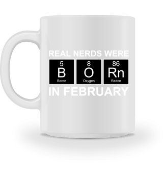 Periodic Elements - BORN february white