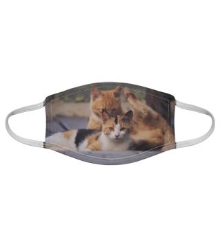 Gesichtsmaske mit Katzenmotiv 20.11