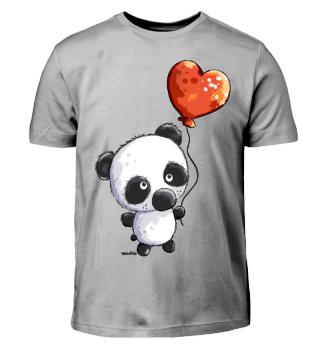 Panda mit Ballon