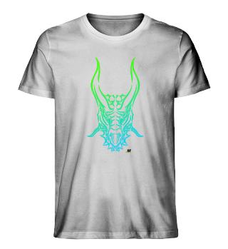 Drache Tribal grün-blau hell