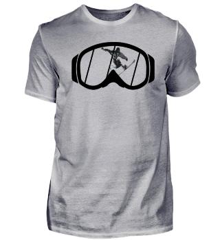 Snowboarder + Brille