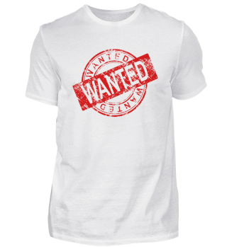 Wanted design shirt