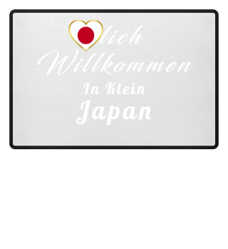Japan FUßMATTE Flagge Liebe Herz Heimat Stolz