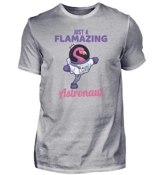 Astronaut Flamingo Wissenschaft Geschenk
