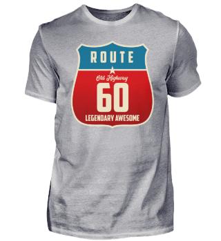 60. Geburtstag 60 Jahre Old Highway