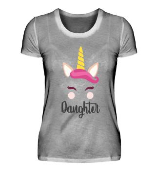 Tochter Daughter Einhorn Geschenk Shirt