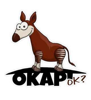 Okapi OK? Lustiger Zebra-Giraffe Sticker