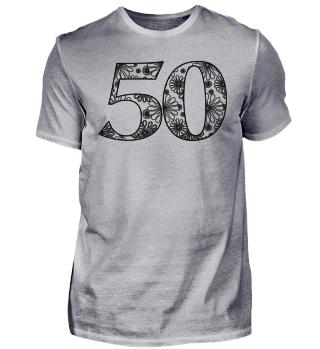 Geburtstag 50 ausmalen II - schwarz