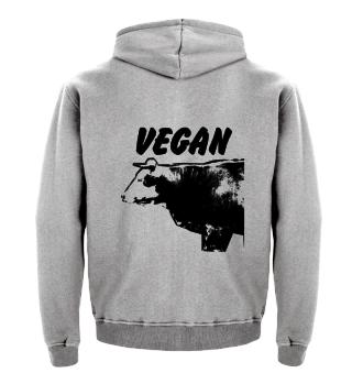 Kinder Hoodie, Vegan Kuh
