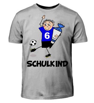 Schulkind Einschulung Fußball