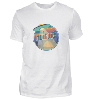 «I'll be back» retro space tee