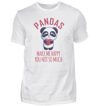 Pandas Make Me Happy Valentine's Day Lov