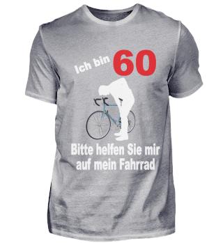 60. Geburtstag T-Shirt Fahrrad