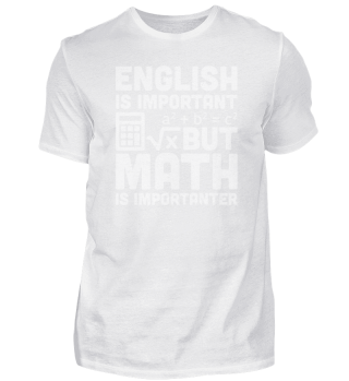 English Is Important But Math Is Importa