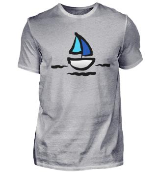 Segelboot Jolle Blaue Segel