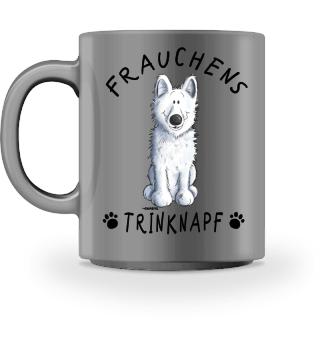 Frauchens Trinknapf Weißer Schäferhund