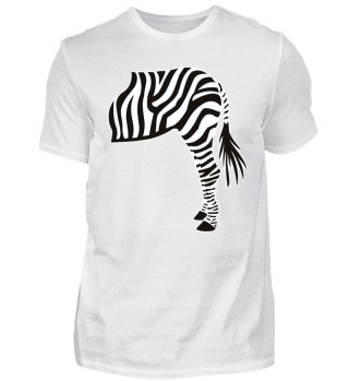 ARBEZ Zebra from behind - black white