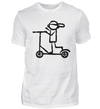 Tretroller Fahren Rollerfahrer