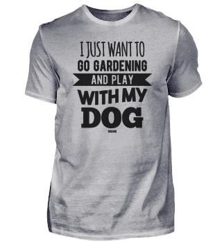 Garden Dog Puppy gardener saying