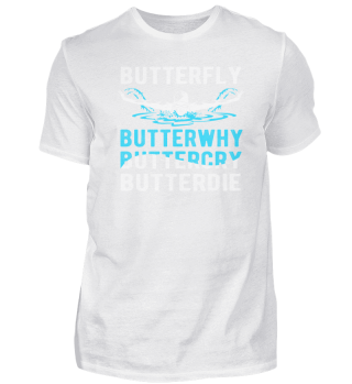 BUTTERFLY SWIMMING SPORT T SHIRT
