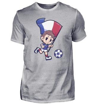 Frankreich Fussball Trikot Sport Junge