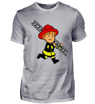 Feuerwehr Kinder Shirt · Feuerleiter