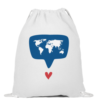 World with Heart Bag