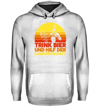 Landwirt · Traktor · Trink Bier und hilf