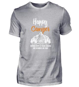 Glücklicher Camper im Wohnmobil Cooles