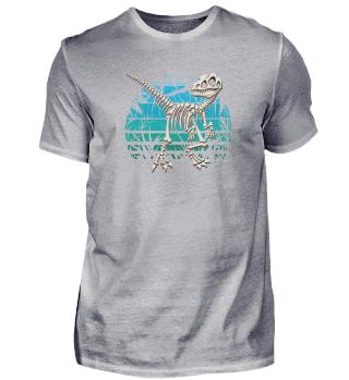Velociraptor Dino blauer Urwald Raptor