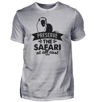 Löwe Afrika Safari Spruch