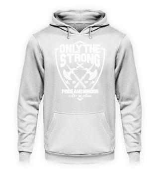 Strong Herren Hoodie Sweatshirt Kapuze