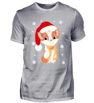 Weihnachtskätzchen Santa Cat Comicstyle