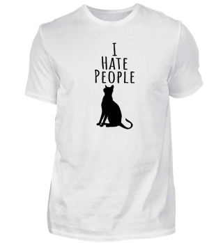 I Hate People Cat T-Shirt Gift