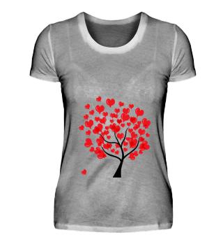 Valentinstag Herz Baum