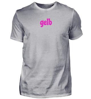 gelb - pink / rosa T-shirt Geschenk