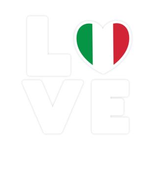 I love LOVE Italy Flag Flag Heart