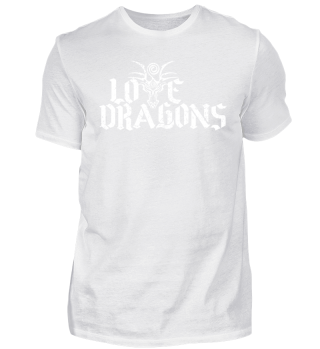 Love Dragons - white grunge