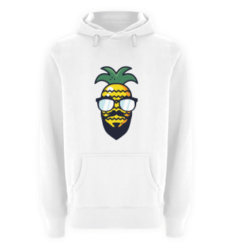 Ananas Frucht Bart Cool Hipster Sonne