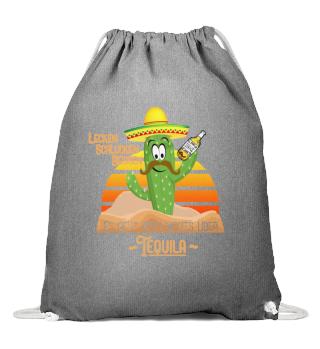 Tequila Schnaps toast with cactus
