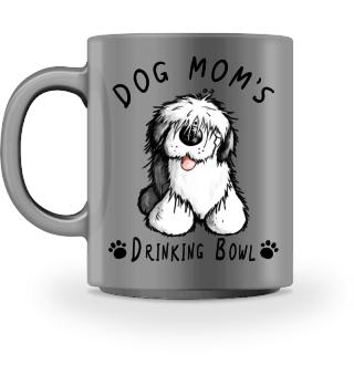 Old English Sheepdog Mom Drinking Bowl