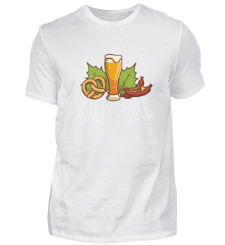 Threesome Bier Brezn Wurscht Oktoberfest