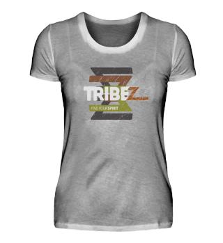 TRIBEZ Premium T-Shirt Damen, hell